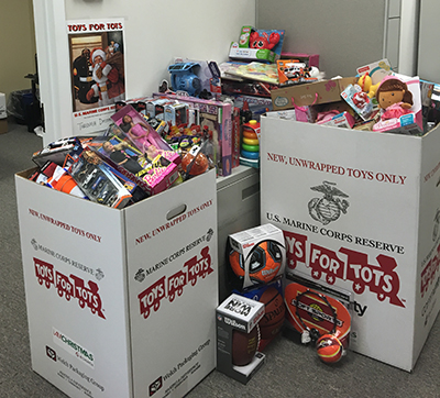 B R Makes Large Toy Donation To Marine Toys For Tots Foundation