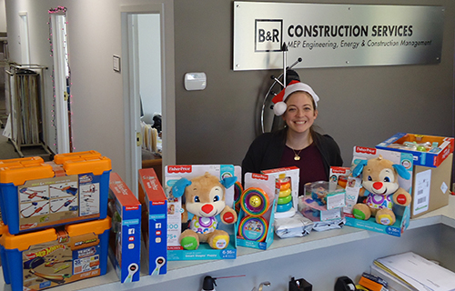 Toys For Tots Founder : B r construction makes large donation to marine toys